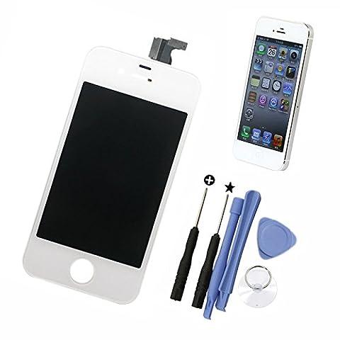 DBPOWER® Touch Screen und LCD Screen Ersatz für iPhone 4 Farbe Weiß mit 6-teiligem Reparatur-Kit