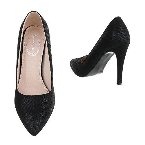 Ital Zapatos Mujer Pqpxzi De La Diseño Plataforma Negro pw8xFW
