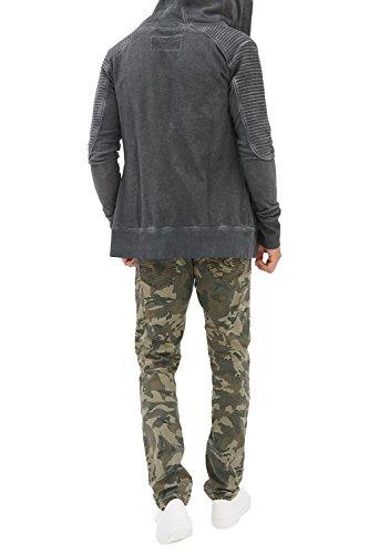 trueprodigy Casual Herren Marken Sweatjacke einfarbig Basic, Oberteil cool und stylisch mit Kapuze (Langarm & Slim Fit), Sweat Jacke für Männer in Farbe: Grau 2682105-0403 Anthrazit