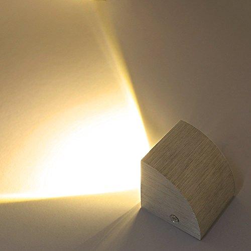 Deckey LED 3W design Wandleuchte Wandlampe Flurlampe Wandbeleuchtung Designerlampen innen Aluminum Warmweiß