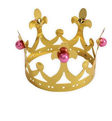 Peach Schmuck Kostüm - KarnevalsTeufel Krone, Märchenkrone Metallkrone, Krönchen, Prinzessinnenkrone, Königinnenkrone, Königin, Schmuck, Accessoire, Mädchenschmuck (Modell B)
