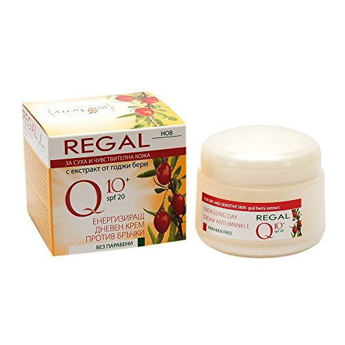 Energizing Anti Wrinkle Day Cream Rich in Coenzyme Q10 & Goji Berry Extract * For Dry & Sensitive Skin/ Ages 30+ by Regal Cosmetics