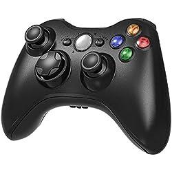Manette de jeu sans fil Xbox 360 2,4 GHz pour console Xbox 360 et PC Windows 7,8,10 (Noir)