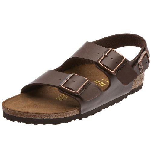 Birkenstock Milano, Unisex Adults' Sandals, Brown (Dunkelbraun), 10.5 UK (45 EU)