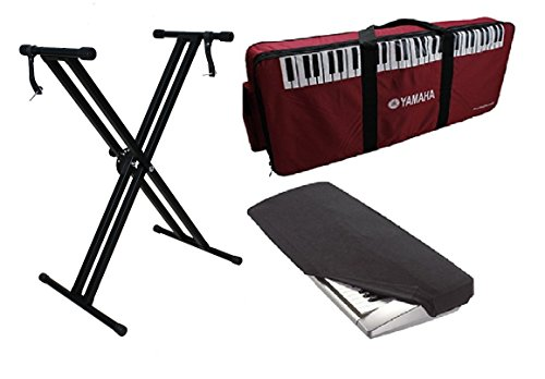 Yamaha PSR-I425 Keyboard Padded Case,Double Brace Folding Stand, Dust Cover Combo Pack.  available at amazon for Rs.2999