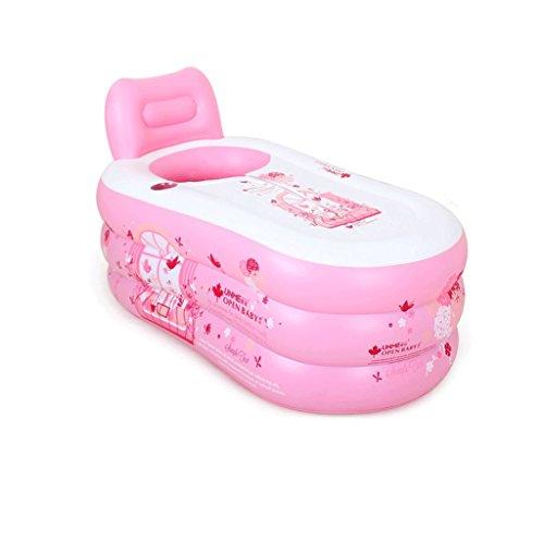 Einfache aufblasbare Badewanne Erwachsene Badewanne Home Bad Badewanne Eimer Kunststoff Bad Eimer Falten groß verdickt (Color : - Einzigartige Säuglings Kleinkind Kostüm