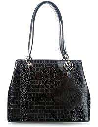 Guess - Bolso de tela de poliuretano para mujer Negro Negro talla única