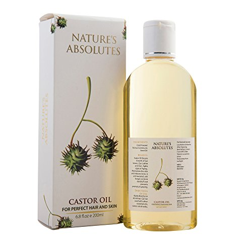 Nature's Absolutes Coldpressed Castor Carrier Oil 200 ml For Skin & Hair Care