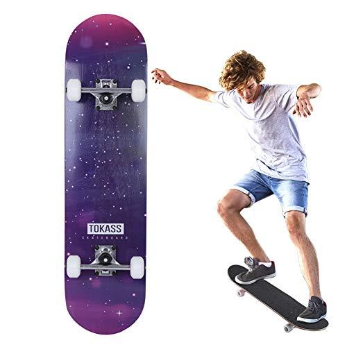 Grizzly-tool-box (Komplettboard Deck Longboards 7-Lagigem Ahornholz Geeignet für Outdoor-Sportarten und Eislaufen Unisex)