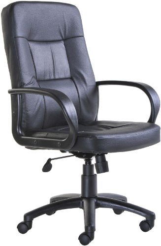 Leather Faced Manager Chair (HAM300T1) H1080xW1170xD620 - black