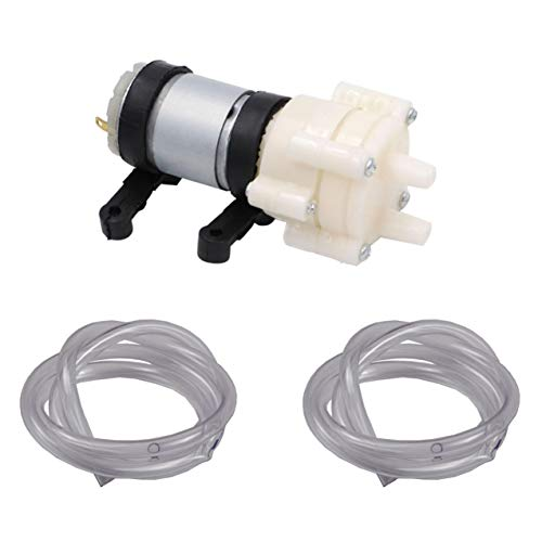 Roinco DC Water Pump 12 V for Arduino ESP8266 Raspberry Pi with 2x1 m Pipe