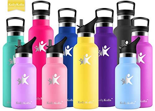 KollyKolla Bottiglia Termica per Acqua Acciaio Inox Senza BPA Borraccia Sportiva Sottovuoto Doppia Parete 350/500/600/750ml Borracce Termiche per