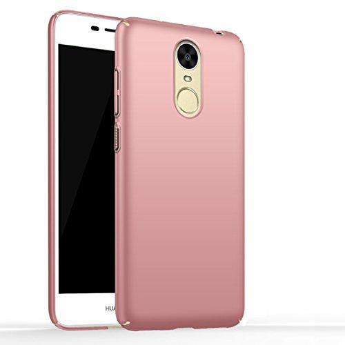 Huawei Enjoy 6 Handyhülle Silikon Casefirst TPU Case Schale Schlank Anti-Fingerabdruck Stoßfest Schutzhülle 360 Grad Case Robust Schutzhülle Cover mit Eingebautem Displayschutz für Huawei Enjoy 6 (Rosa)
