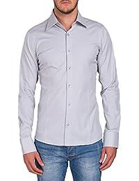 Herren Langarm Hemd Business Anzug Freizeit Hochzeit Basic Standard Slim Fit