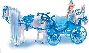Speelgoed Carruaje Azul con Caballo mágico y Princesa