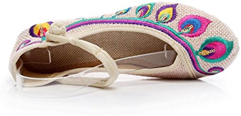 GuiXinWeiHeng xiuhuaxie (new)-Gestickte Schuhe Leinen Sehnensohle ethnischer Stil weibliche Schuhe Modeö