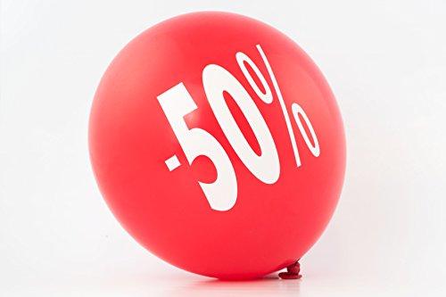 Ballons Rabatt 10er Set 30cm Durchmesser beidseitig bedruckt (weißer Aufdruck -30%)