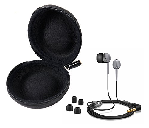 DURAGADGET Funda Negra Para Los Auriculares In Ear Sennheiser CX200 Street II | CX475 | CX150 - Alta
