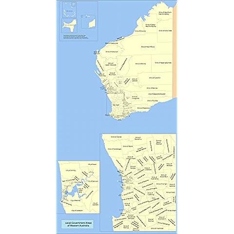 vinteja Mappa Grafici Di–Governo locale Australiana–Australia–A3Poster