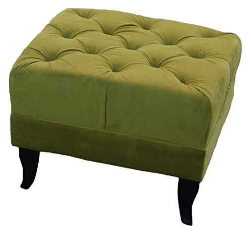 Ohrensessel Grün Olivgrün LUDWIG Loungesessel Chesterfield - 5