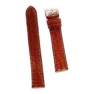 Gurtband aus Leder, hochwertig verarbeitet. 18 mm Gold Schwarz