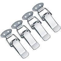 Qiorange 4 x Edelstahl Spannverschluss Kistenverschluss Kappenschloss Verschluss Gegenhaken (4pcs Typ B)
