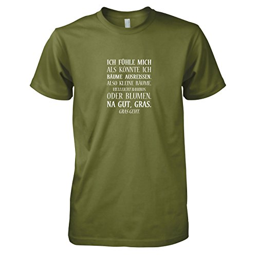 TEXLAB - Bäume ausreißen - Herren T-Shirt Oliv