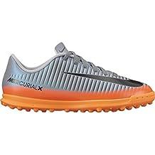 Nike Jr. Mercurialx Vortex III CR7 (TF) Astro Turf Trainers - Cool Grey