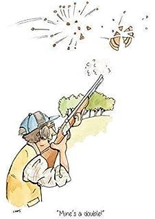 "/""High House Low House/"" skeet clay pigeon shotgun shooting Greeting Card"