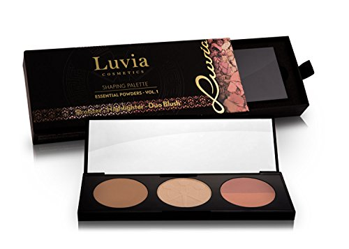 Luvia Rouge Palette 3 IN 1 Inkl. Highlighter, Bronzer & Duo Blush - Shaping Makeup Palette Für Einen Besonders Frischen Teint - Geschenkidee Für Frauen - Vegane Kosmetik - Blush Bronzer