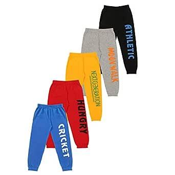 KYDA KIDS Boys' Loose Fit Trackpants (Pack of 5)