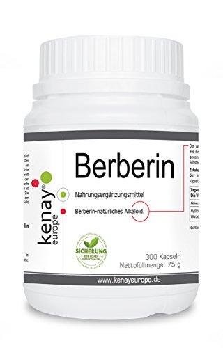 Berberin HCL   300 Kapseln (Berberis aristata)   Ein natürliches Alkaloid   Kenay Europe