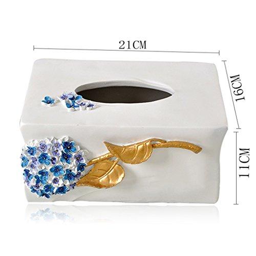 L&Y tissue box Serviette Tablett Europäische Art Tissue Box Kreative Schublade Box Haushalt Wohnzimmer Zimmer Dekorationen Pastoral White Paper Box (Keramik Tissue Box Cover)