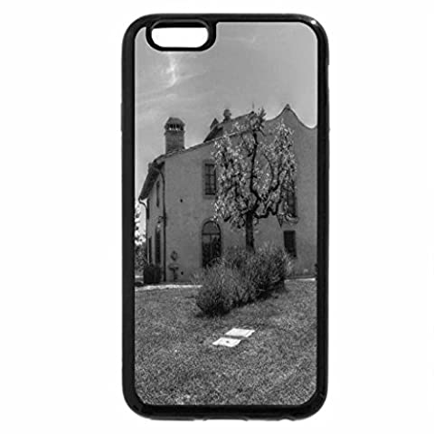 iPhone 6S Plus Case, iPhone 6 Plus Case (Black & White) - Tuscany farm in summer
