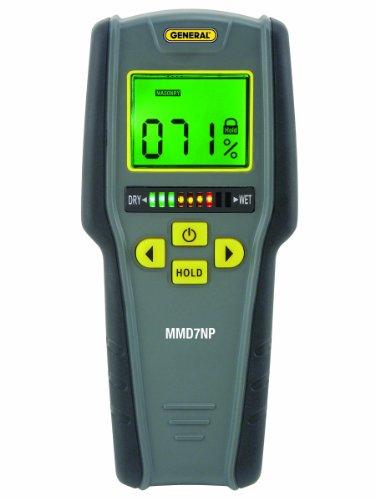 General Tools Feuchtigkeitsmesser, Pinless, Digital LCD mit Tricolor Balkendiagramm (MMD7NP) Bar Graph Meter