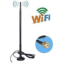 9DBI Alta Ganancia 4G LTE , Amplificador de Antena GSM Wifi Receptor de adaptador de Red Antena SMA de Largo Alcance con cable a conector SMA para punto de acceso móvil