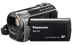 Panasonic SDR-T50 Camcorder - Black (4GB in-built flash, SD Card slot, x78 Enhanced Zoom)