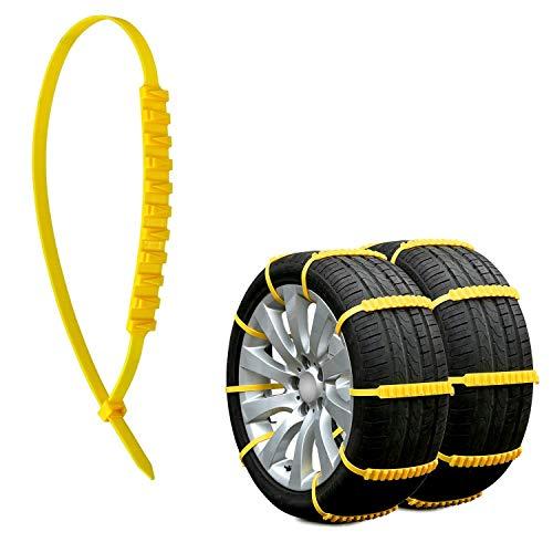 Rupse Schneeketten,Anti-Rutsch-Reifenketten Anti-Rutsch-Schneeketten für Autos und SUVs Anti-Rutsch-Kette (20 PCS)