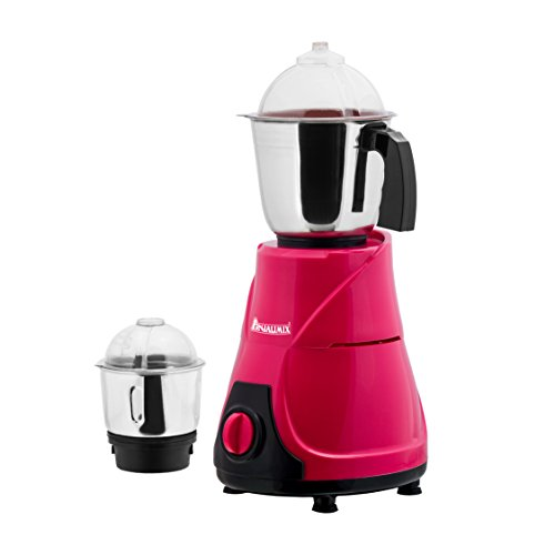 ANJALIMIX Mixer Grinder MOJO 600 WATTS With 2 Jars (Magenta & Black), DRY, WET, CHUTNEY  available at amazon for Rs.1599