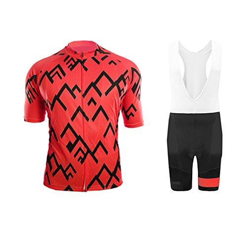 Uglyfrog Herren Radtrikot 3D Padded Bib Shorts Bekleidung Wear Outdoor-Sommer-Breathable Kurze Hülsen-Fahrrad-Sportbekleidung Set