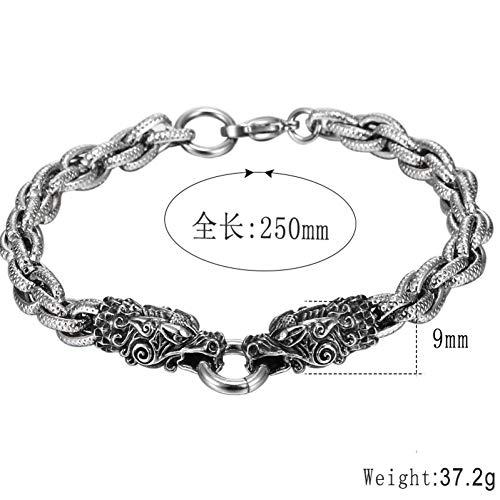 HMKLN Silber Drachen Armband Männer Freundschaft Charms personalisierte Armband Metall Armband böhmischen Accessoires Schmuck -