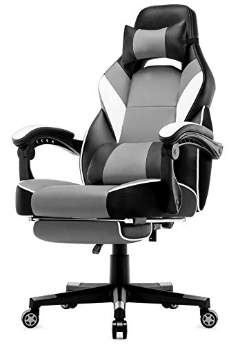 Intimate WM Heart Chaise de Bureau Gaming en Similicuir, Fauteuil Racing Inclinable, Siège Ergonomique Pivotant, Dossier Haut