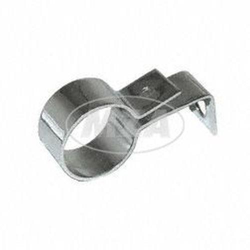 Auspuffschelle mit Halterung D=35 mm, verchromt, 1. Qualität, passend für AWO 425S (für MZA 73492D)