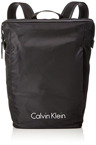 Calvin Klein Blithe Backpack, Mochilas Hombre, Negro (Black), 15x46x28 cm (B x H...