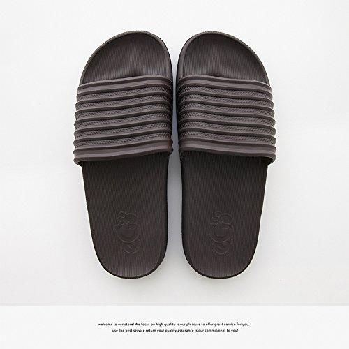 DogHaccd pantofole,Home coppie doccia ciabatte da bagno, arredamento home anti-slittamento fondo morbido cool pantofole maschio Brown3