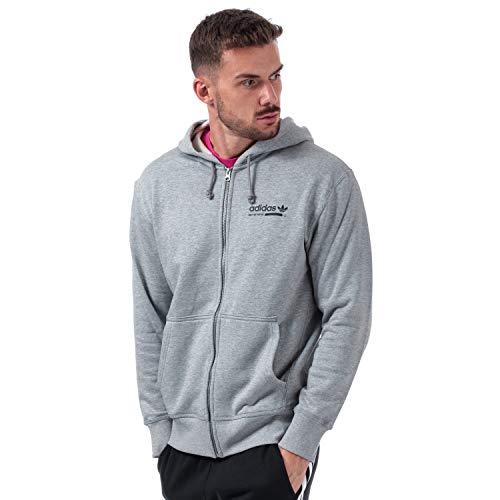 adidas Originals Herren Zip Hoodies Kaval Fz grau L Adidas Zip-hoodie