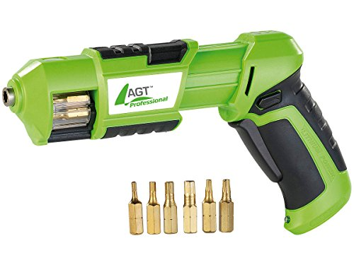 AGT Professional Mini-Akkuschrauber mit 3,6V/ 1,5 Ah & Bit-Trommel - 2
