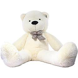 Joyfay Marca oso de peluche 100 - 200 cm gigante de la muñeca de juguete suave de la felpa de peluche oso de peluche de juguete oso peluche gigante peluches gigantes osos de peluche gigantes (160 cm, Blanco)