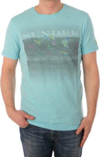 Sundek Herren T-Shirt Himmelblau