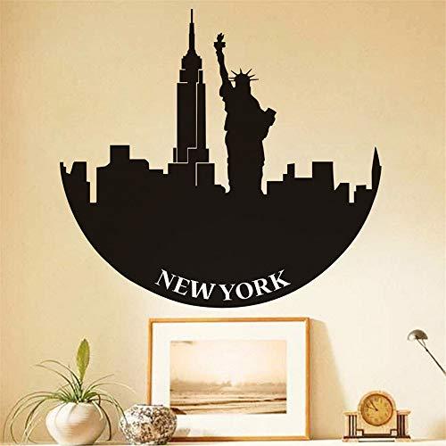 Cchpfcc New York Freiheitsstatue Wandtattoos Anhaftende Aufkleber Home DecorRemovable Decals Schlafzimmer Wanddekoration